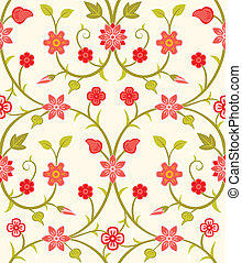 Seamless retro floral pattern