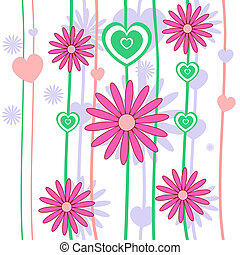 Seamless retro flower background vector