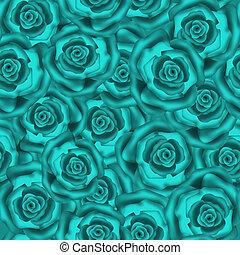 Seamless retro flowers roses pattern print background