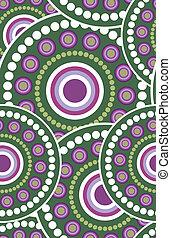 Seamless retro green circle texture