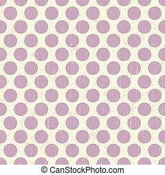 Seamless retro grunge polka dots ba