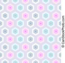 Seamless retro honeycomb pattern-2