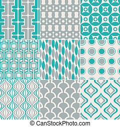 seamless, retro, mønster, tryk