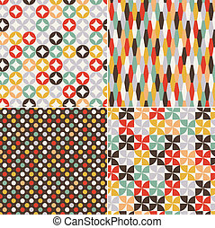 seamless, retro, mønster