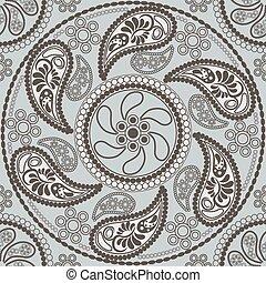 Seamless retro mandala pattern