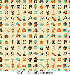 seamless retro Medical pattern