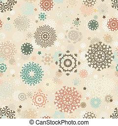 seamless, retro, natal, pattern., eps, 8