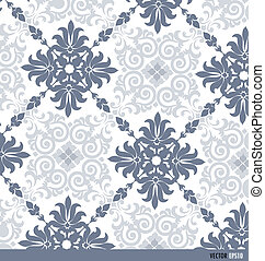 Seamless retro pattern background. Vector illustration.