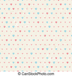 Seamless retro pattern of Valentine's hearts.