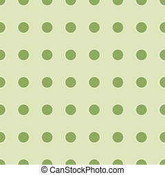 Seamless retro pattern with green circles. Vector illustration