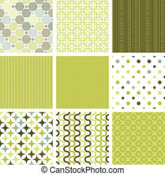 seamless retro patterns collection - Seamless retro patterns...