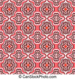 Seamless retro red pattern