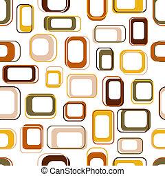 Seamless retro squares in earth tones