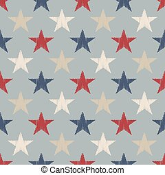 seamless retro stars pattern