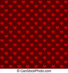 Seamless Retro Style Pattern with Hearts. Vector