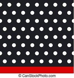 Seamless retro texture. Polka dots. Vector.