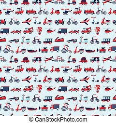 seamless retro transport pattern