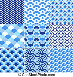 seamless retro wave pattern