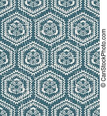 Seamless retro worn out background sawtooth side polygon geometry