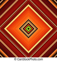 Seamless vivid orange-brown and yellow-green rhombic pattern (vector)