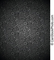 Seamless rich black wallpaper - Seamless vector rich black...