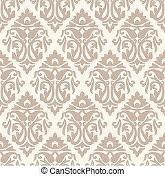 Seamless rich damask pattern with paisley