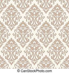 Seamless rich damask pattern with paisley
