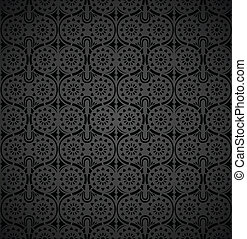 Seamless-Rich wallpaper in black