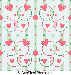 Seamless romantic pattern with hearts