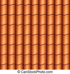 Seamless roof tiles vector illustration