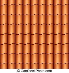 Seamless roof tiles vector illustration