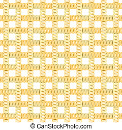 Seamless Rope Or Thread Pattern. Vector Illustration