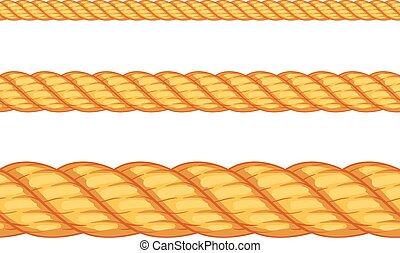 seamless, rope., vektor, ilustrace