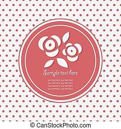 seamless., rosa, fiori, logotipo