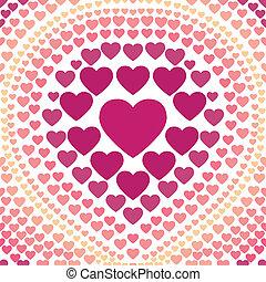 seamless, rosa, hjärta, abstrakt, backgr