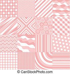 seamless, rosa, patrones