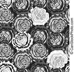 seamless, rosa, pauta flor