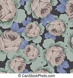 seamless, rose, muster