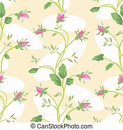 seamless rosebud pattern
