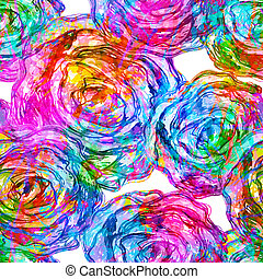 Seamless Roses Pattern. Vector, EPS 10
