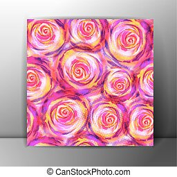 Seamless Roses Pattern. Vector, EPS10