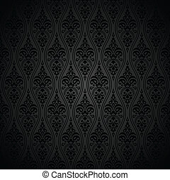 Seamless royal black wallpaper
