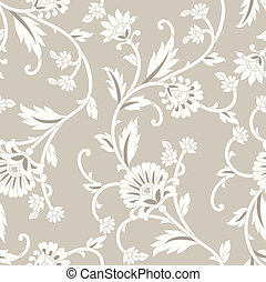 Seamless royal floral background
