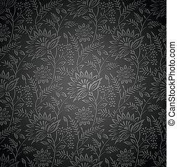 Seamless royal floral wallpaper