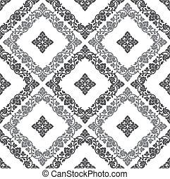 Seamless royal floral wallpaper - Seamless silver royal ...