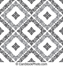 Seamless royal floral wallpaper - Seamless silver royal...