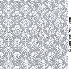 Seamless royal wallpaper in silver