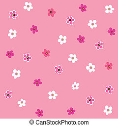 seamless, roze bloem, ruitjes, model