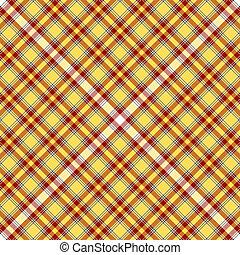 seamless, sárga, és, piros, tartán, motívum