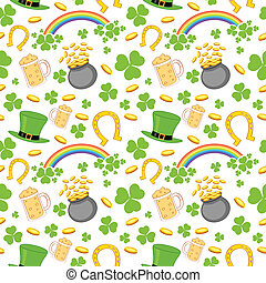Seamless Saint Patricks Day Background